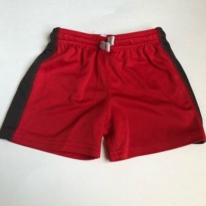Little Boy Red And Black Basketball Ball Shorts